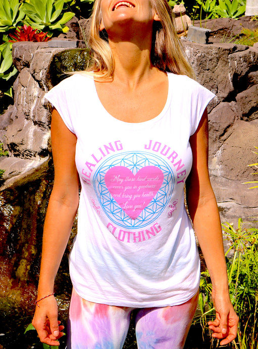 Women's healing prayer bamboo T-shirt
