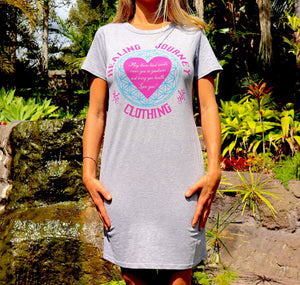 "Women's ""Love you!"" healing prayer Organic cotton dress/nightie"