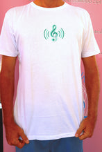 "Load image into Gallery viewer, ""Heart Music"" Men's/Women's Bamboo T-shirt."