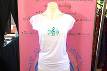 "Load image into Gallery viewer, Women's ""Heart Music"" bamboo T-shirt"
