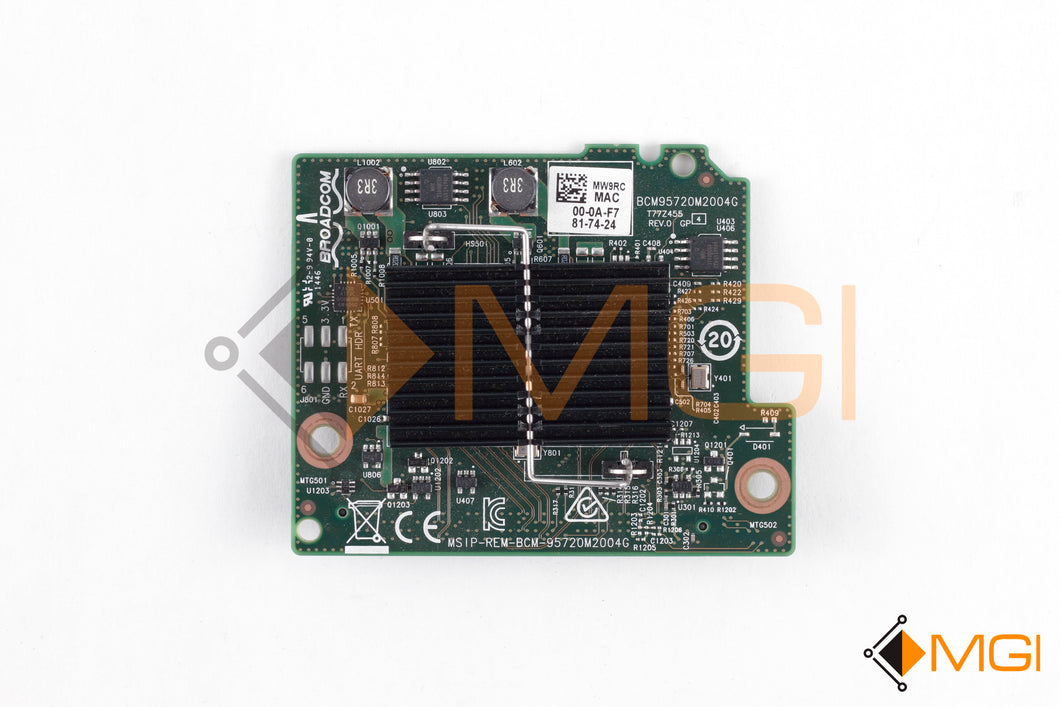 MW9RC DELL/BROADCOM 5720 1GB QUAD PORT KR BLADE NIC FRONT VIEW