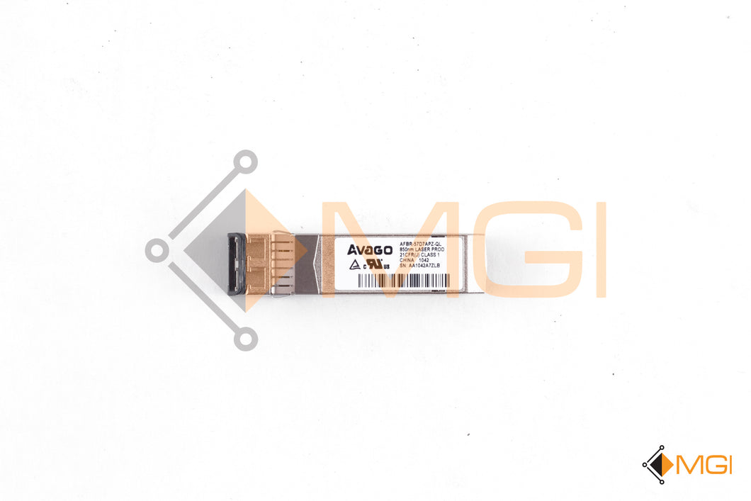 AFBR-57D7APZ-QL AVAGO 8GB SFP FC TRANSCEIVER FOR QLOGIC FRONT VIEW