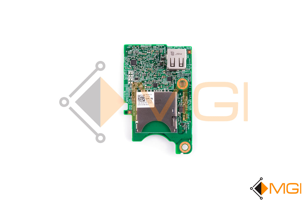 P2KTN DELL INTERNAL DUAL SD MODULE RISER CARD FOR DELL POWEREDGE FC BLADES FRONT VIEW