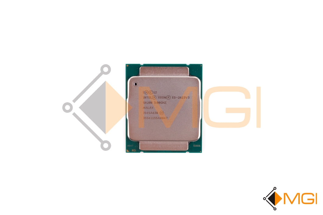 E5-2623 V3 SR208 INTEL XEON QUAD CORE PROCESSOR 3GHZ 10MB SMART CACHE FRONT VIEW