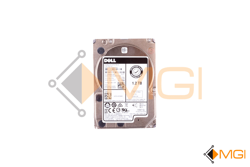 FR6W6 DELL 1.2TB 10K 12G SFF SAS HARD DRIVE FRONT VIEW