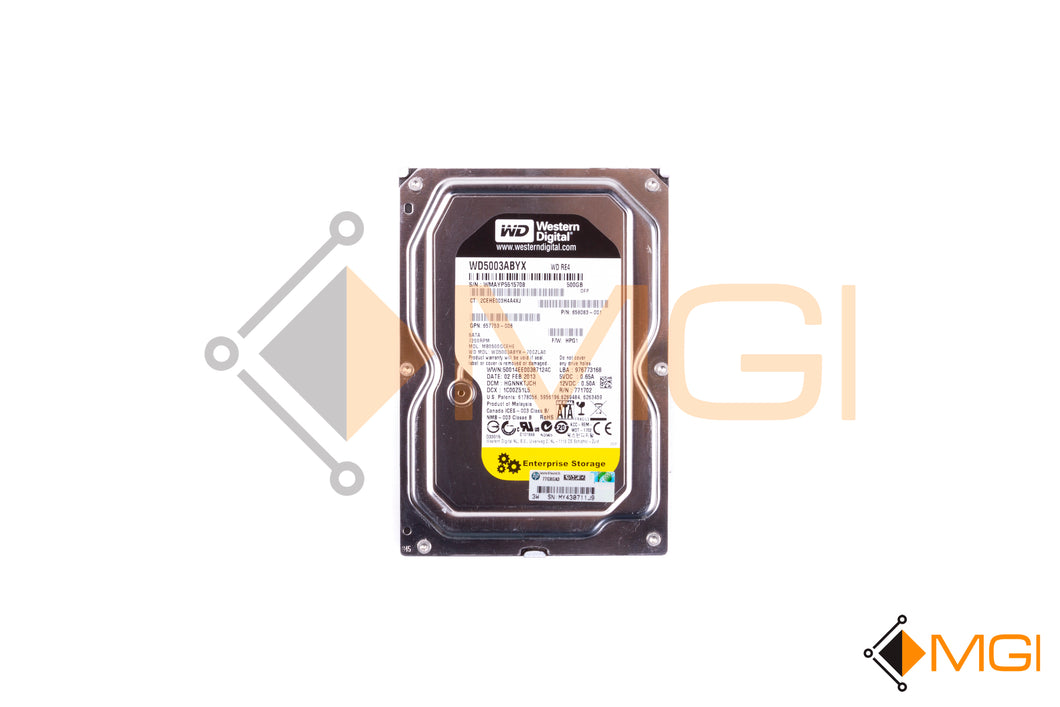 658083-001 HP HDD 500GB 6G SATA 7.2K 3.5