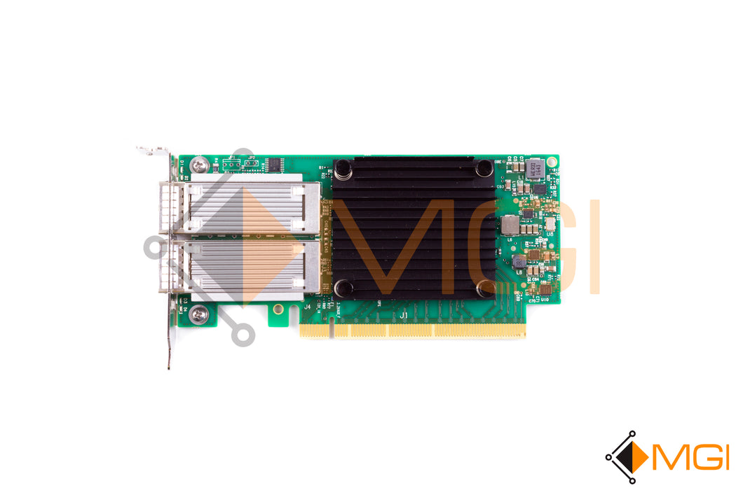 HWTYK DELL MELLANOX CX-4 DUAL PORT 100G PCIE QSF ETHERNET NETWORK CARD TOP VIEW