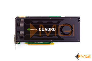 VCQK4000-T NVIDIA QUADRO K4000 3GB GDDR5 PCI-E VIDEO GRAPHICS CARD TOP VIEW