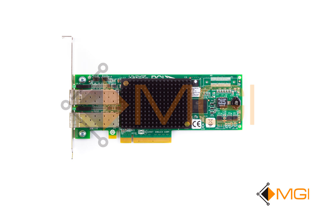 697890-001 HP STORAGEWORKS 82E 8Gb DUAL-PORT PCI-E FC HBA EMULEX TOP VIEW