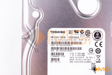 Load image into Gallery viewer, MK1001TRKB TOSHIBA 1TB 7.2K 6G 3.5 HOTSWAP SAS HDD DETAIL VIEW