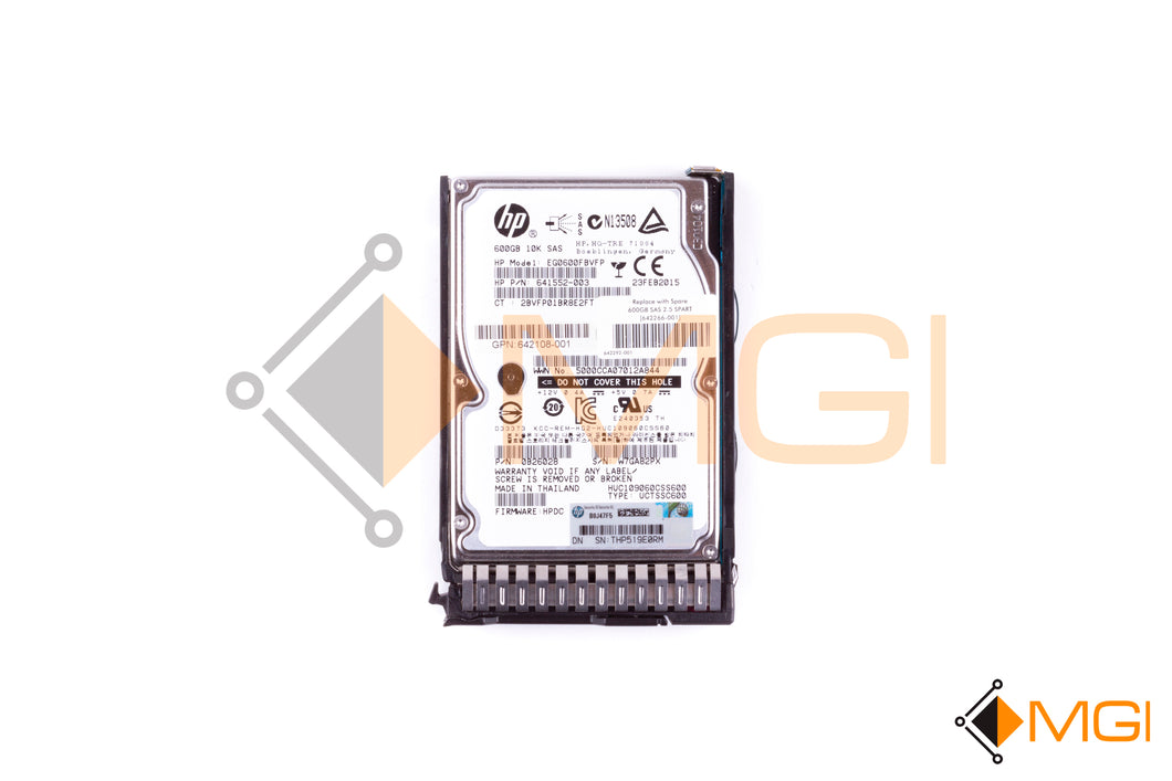 642266-001 HP 600GB 10K 6G SFF SAS HDD FRONT VIEW