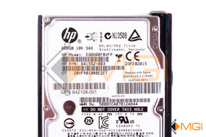642266-001 HP 600GB 10K 6G SFF SAS HDD DETAIL VIEW
