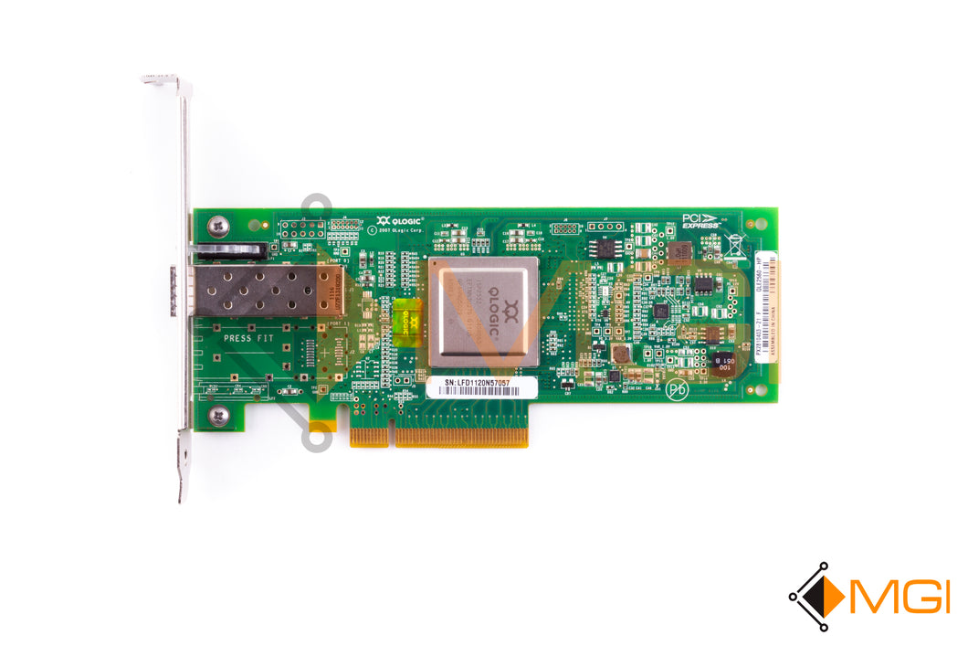 489190-001 HP STORAGEWORKS 81Q PCI-E FC HBA ADAPTER TOP VIEW