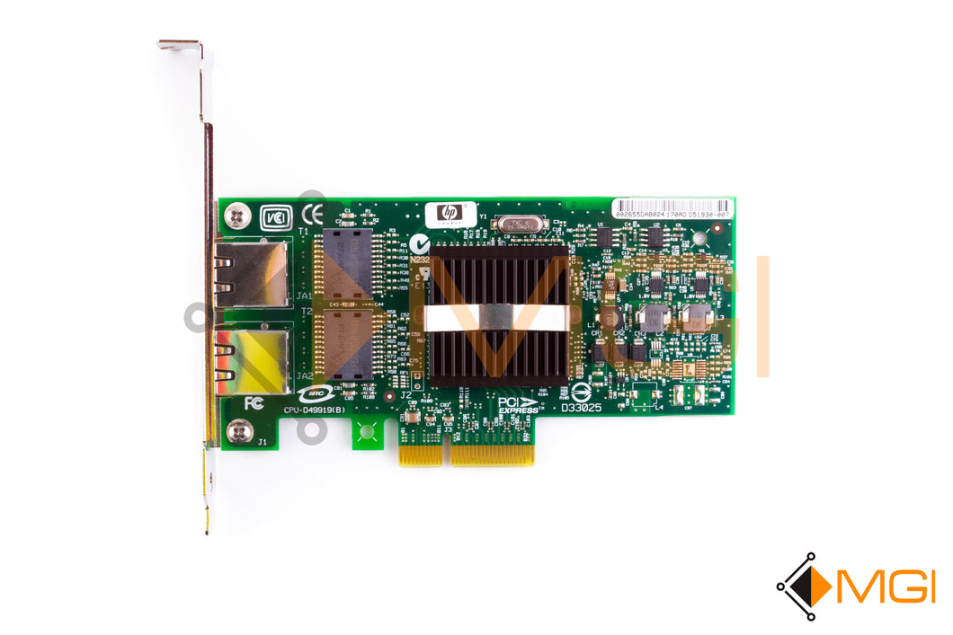 412651-001 HP PCI-E GIGABIT DUAL PORT SERVER ADAPTER NETWORK CARD TOP VIEW