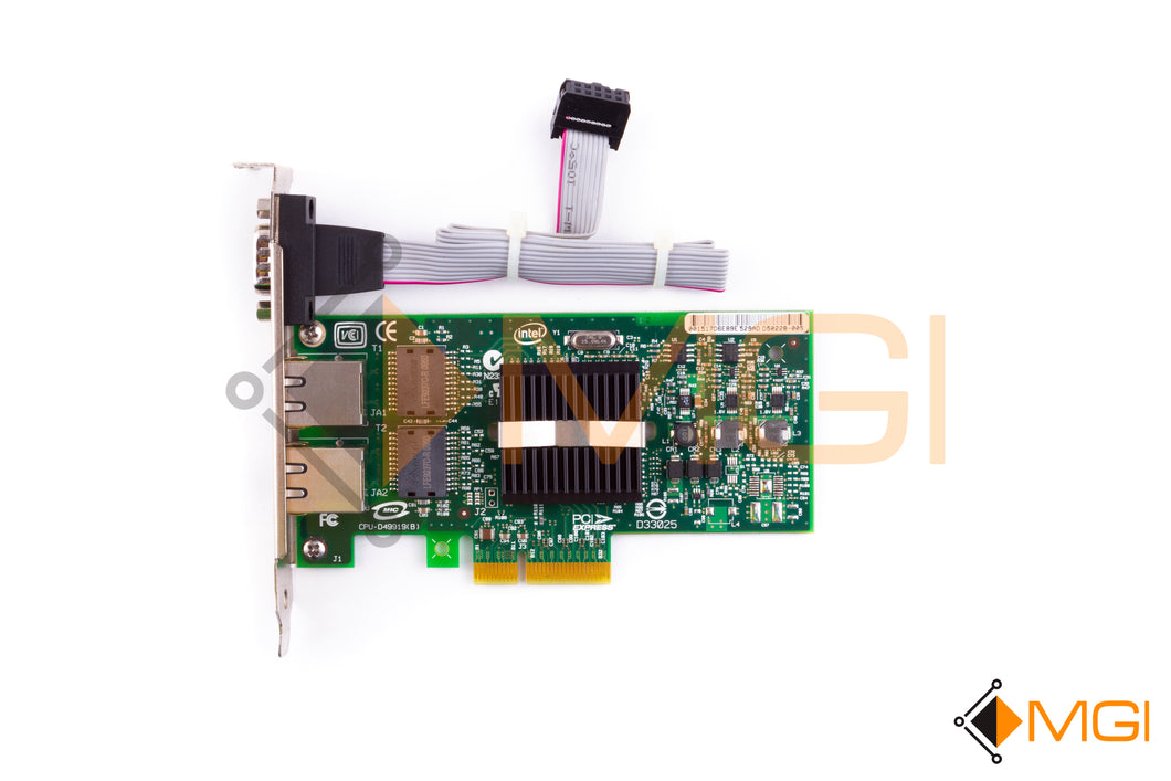 EXPL9402PTG2P20 INTEL PRO/1000 ADAPTER CARD W/ VGA PORT AND CABLE TOP VIEW