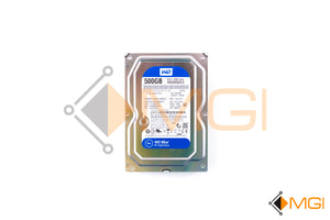 "WD5000AZLX WD 500GB 7.2K 6G 3.5"" 32MB SATA BLUE HDD FRONT VIEW"