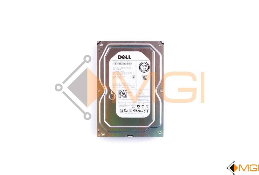 1KWKJ DELL 500GB 7.2K DISK SAS-300 3.5IN WD FRONT VIEW