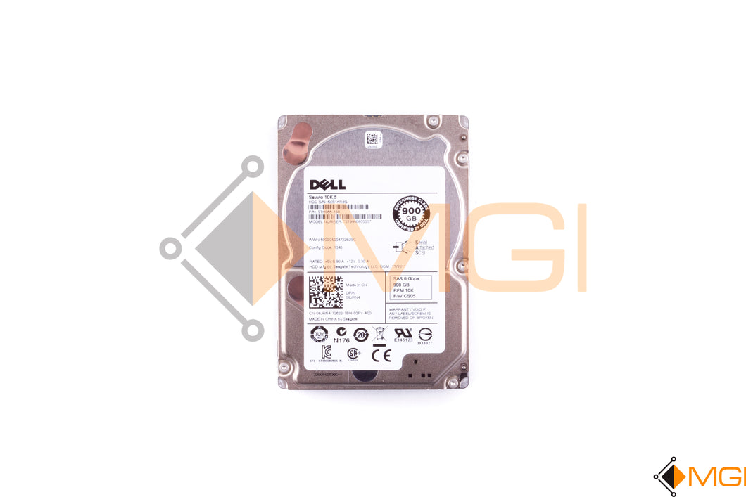 8JRN4 DELL 900GB 10K 6G 2.5INCH SAS HDD FRONT VIEW