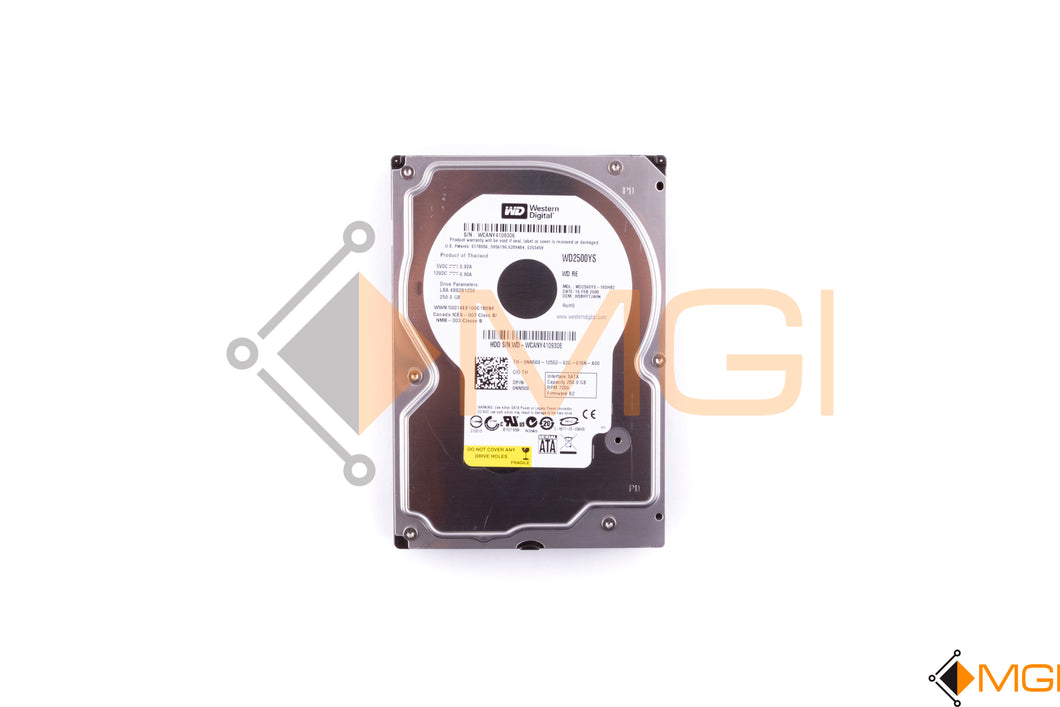 NN508 DELL 250GB 7.2K SATA II 3GBPS HDD FRONT VIEW