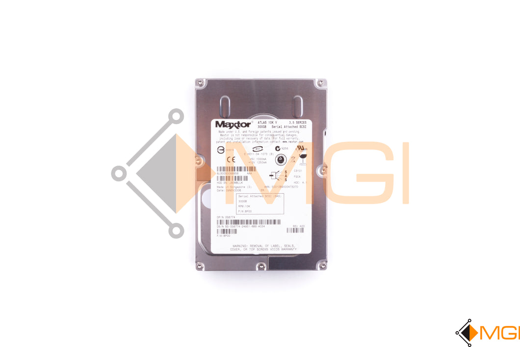 G8774 DELL 300GB 10K 3.5'' SAS HARD DRIVES TOP VIEW