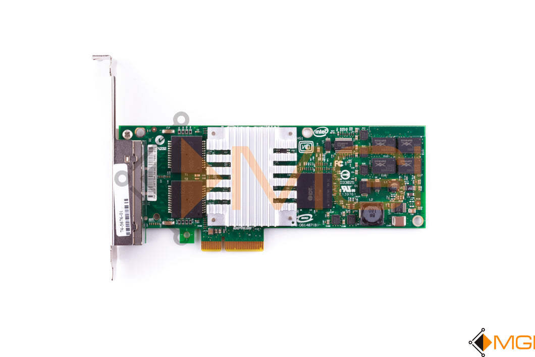 EXP19404PTG2L20  INTEL PCI-E 4-PORT 1GB NIC (PRO/1000PT) TOP VIEW