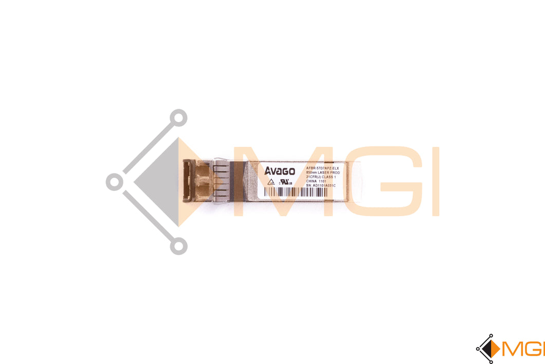AFBR-57D7APZ-ELX AVAGO 8GBPS SFP OPTICAL TRANSCEIVER TOP VIEW