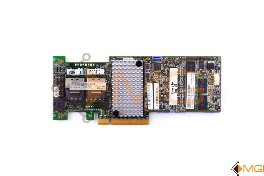90Y4449 IBM SERVERAID M5110 SAS/SATA CONTROLLER TOP VIEW