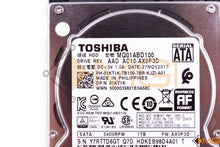 "Load image into Gallery viewer, 1KT1K DELL 1TB SATA HARD DRIVE 2.5"" 5400 MQ01ABD100 DETAIL VIEW"