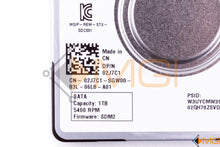"Load image into Gallery viewer, 2J7C1 DELL 1TB 5400 SATA HARD DRIVE 2.5"" 7M DETAIL VIEW"