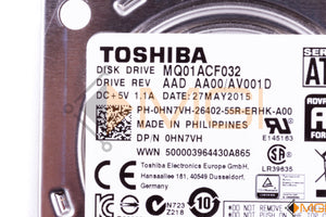 "HN7VH DELL 320GB 6G 72K SATA 600 7MM 2.5"" HDD DETAIL VIEW"