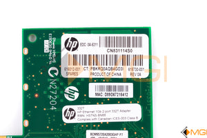 616012-001 HP ETHERNET 1GB 2-PORT 332T ADAPTER DETAIL VIEW