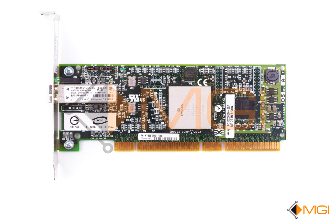 N7488 DELL/EMULEX 2GB SINGLE PORT HBA PCI-X LP10000 TOP VIEW