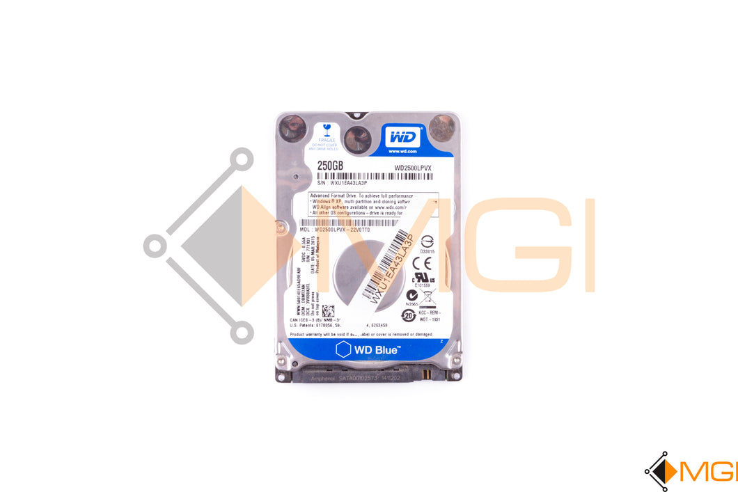 WD2500LPVX-22V0TT0 WD BLUE 250GB 5400RPM 2.5 7MM 8MB CACHE SATA 6.0GBS FRONT VIEW