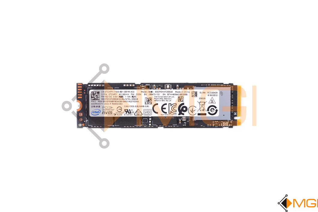 TCHPY DELL INTEL 256GB NVME SSD SSDPEKKF256GB FRONT VIEW