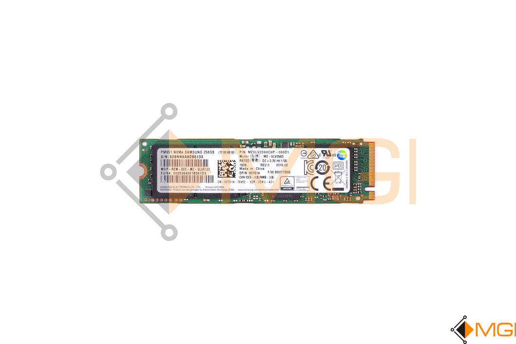 07G14 DELL SAMSUNG 256GB PM951 NVME MZ-VLV256D FRONT VIEW
