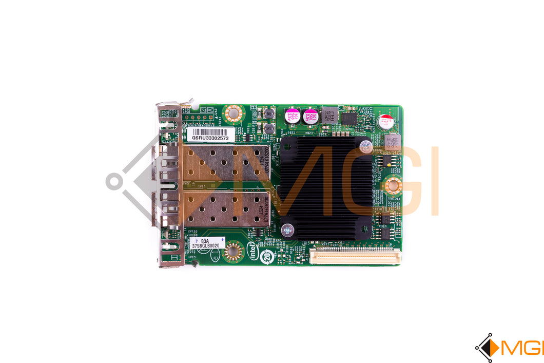 PBA-G23589-25 INTEL DUAL PORT 10GB SFP I/O MODULE LOW PROFILE TOP VIEW