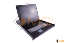 "Load image into Gallery viewer, B021-000-19 TRIPP-LITE NET DIRECTOR 1U 19"" RACKMOUNT KVM LCD OPEN VIEW"