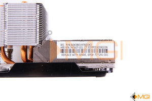 747607-001 HPE DL380 G9 HP HEATSINK DETAIL VIEW
