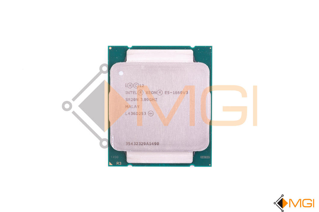 E5-1660 V3 SR20N INTEL XEON 3.0GHZ 20MB 8 CORE LGA2011-3 CPU PROCESSOR FRONT VIEW