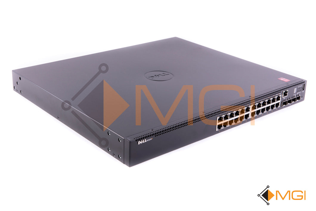 N1524P DELL POWERCONNECT 24 PORT GIGABIT POE+ LAYER 2 SWITCH LIGHT SCRATCHES ON TOP FRONT VIEW