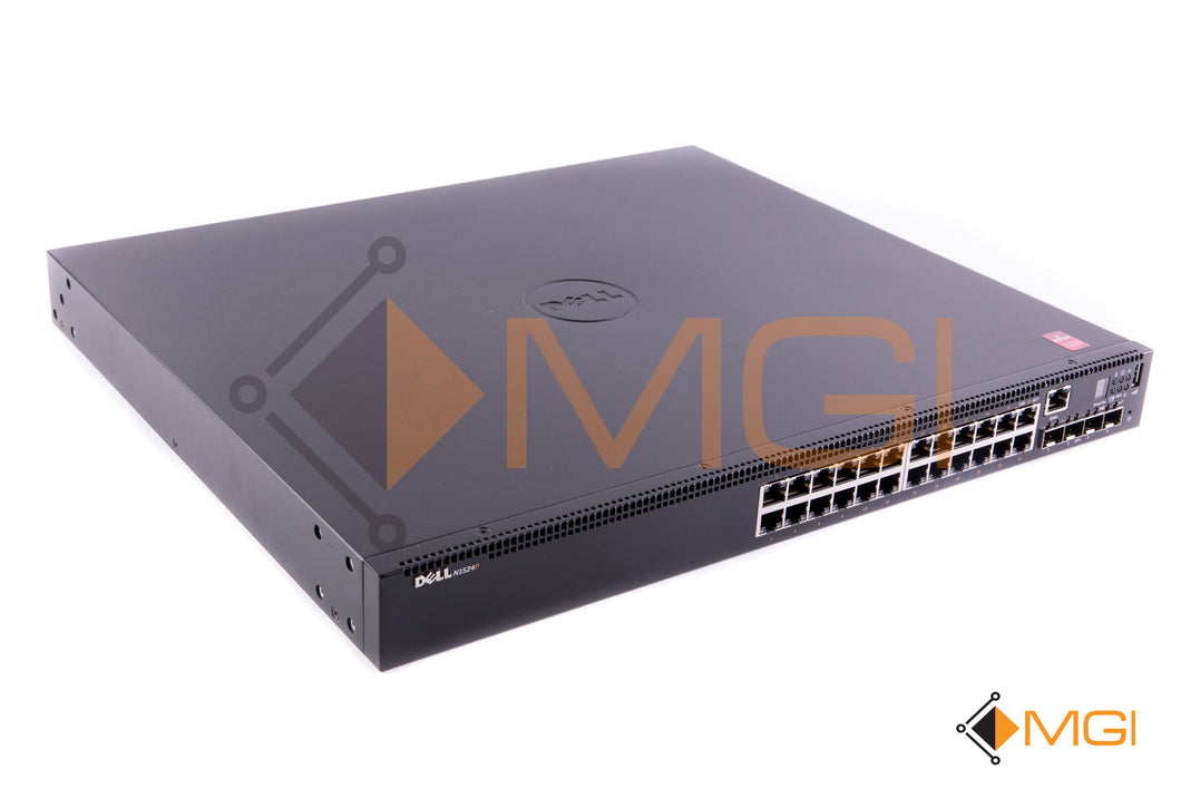 N1524P DELL POWERCONNECT 24 PORT GIGABIT POE+ LAYER 2 SWITCH FRONT VIEW