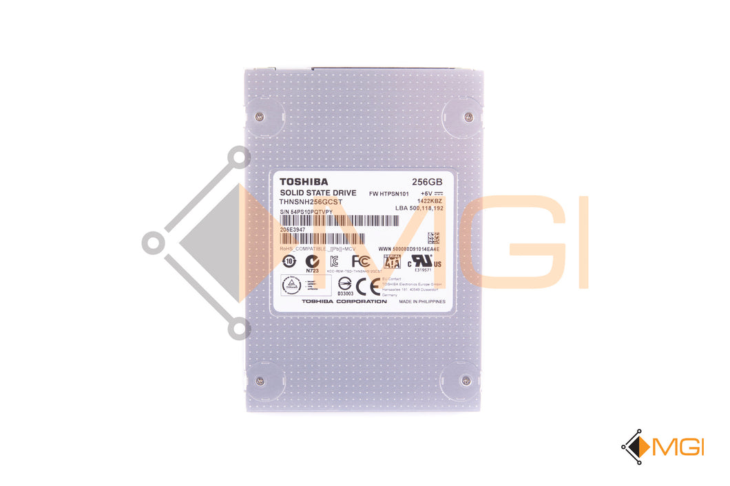 TOSHIBA 256GB MLC 6Gbps 2.5 SATA SSD THNSNH256GCST NO TRAY FRONT VIEW