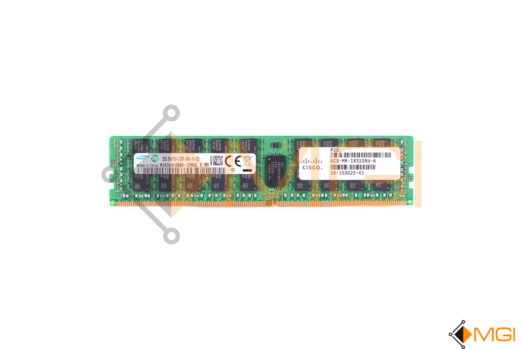 M393A4K40BB0-CPB SAMSUNG 32GB 2RX4 PC4-2133P DDR4 MEMORY FRONT VIEW