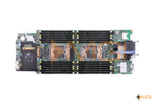 PHY8D DELL POWEREDGE M630 BLADE SERVER SYSTEM BOARD W/ INTERNAL SD RISER CARD + 10GBE DUAL PORT DAUGHTER CARD + 8GB iDRAC FLASH SD TOP VIEW