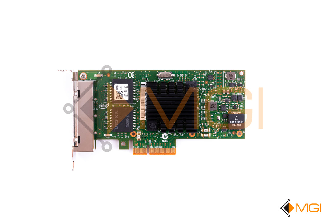 K9CR1 DELL INTEL I350-T4 PCI-E 1GB QUAD PORT NETWORK INTERFACE CARD TOP VIEW