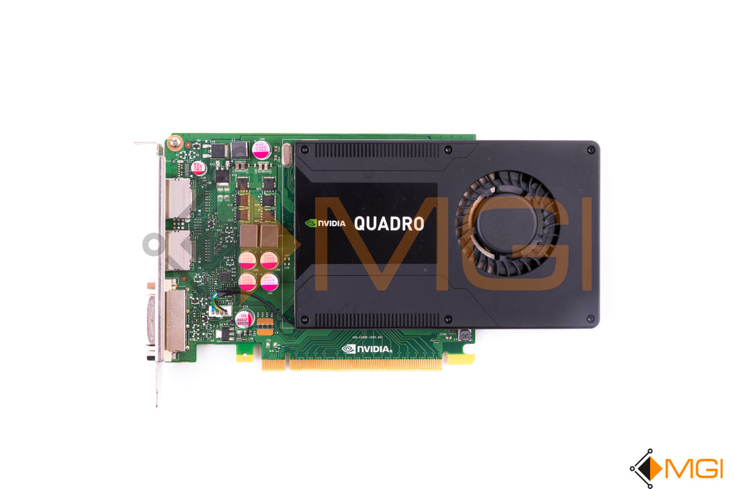 700103-001 713380-001 HP NVIDIA QUADRO K2000 VIDEO CARD 2GB GDDR5 TOP VIEW