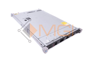 HP DL360 G9 - CONFIG 1, 8 X 2.5'' SFF, 2 X E5-2640V3, 2 X 32GB 4RX4 PC4-2133 MODULES, 1 X 749796-001 P440ar RAID, 1 X 593743-001 NC365T BROADCOM, 2 X 600GB 653957-001 2.5'' 10K SAS HARD DRIVES, 2 X 500 WATT 754377-001 AC POWER SUPPLIES, AND RAILS  - FRONT VIEW