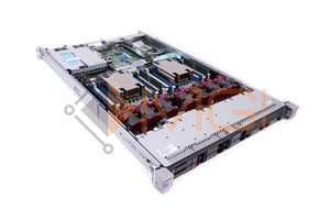 HP DL360 G9 - CONFIG 1, 8 X 2.5'' SFF, 2 X E5-2640V3, 2 X 32GB 4RX4 PC4-2133 MODULES, 1 X 749796-001 P440ar RAID, 1 X 593743-001 NC365T BROADCOM, 2 X 600GB 653957-001 2.5'' 10K SAS HARD DRIVES, 2 X 500 WATT 754377-001 AC POWER SUPPLIES, AND RAILS - FRONT VIEW LID OFF