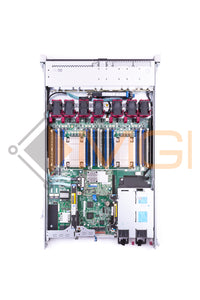 HP DL360 G9 - CONFIG 1, 8 X 2.5'' SFF, 2 X E5-2640V3, 2 X 32GB 4RX4 PC4-2133 MODULES, 1 X 749796-001 P440ar RAID, 1 X 593743-001 NC365T BROADCOM, 2 X 600GB 653957-001 2.5'' 10K SAS HARD DRIVES, 2 X 500 WATT 754377-001 AC POWER SUPPLIES, AND RAILS - TOP VIEW