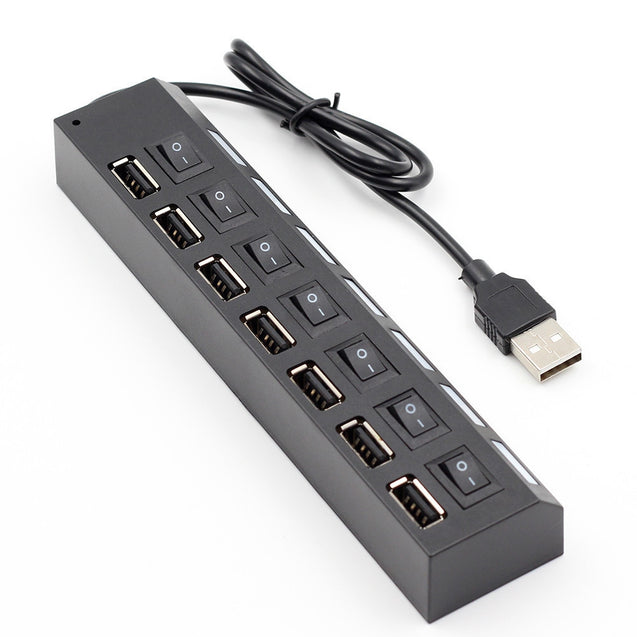 7 Port USB Hub USB2.0 with Switch High Speed USB Transmission Hubs - SunnySplit
